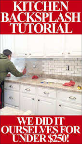 Install Backsplash Fascinating How To Install A Kitchen Backsplash The Best And Easiest Tutorial
