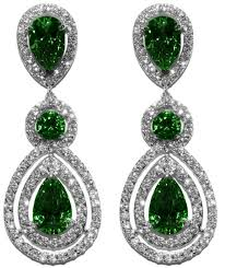 full size of living elegant emerald chandelier earrings 1 louisa green pear double halo dangle cubic