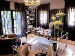 chic home office design home office. Khloe Kardashian ~ Home Office In Beverly Hills. 3_KhloeKardashian Chic Design