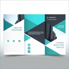 3 Folded Brochure Template Free Fold Brochures Publisher Margines Info