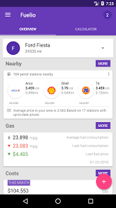 Best Mileage Log App Fuelio Fuel Log Mileage And Costs Tracker For Android