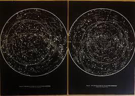 1950s Set Of 2 Original Stars Constellations Maps
