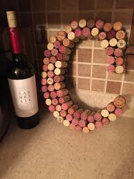 A wine cork letter that I made for my sister! #wine #corks #