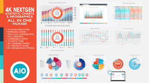 4k Nextgen Resizable Statistics Charts Infographics Pack All In One For After Effects