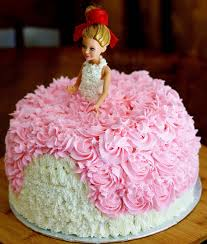 Sage Trifle Barbie Birthday Cake