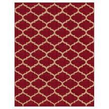 contemporary moroccan trellis dark red