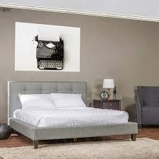 Baxton Studio Quincy Grey Linen Platform Bed  Free Shipping Today Linen Platform Bed