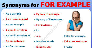 Other Ways to Say FOR EXAMPLE: List of 26 Powerful Synonyms for ...