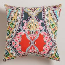 Warm Venice Paisley Outdoor Throw Pillow at Cost Plus World Market