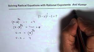 understand how to solve radical equation with rational exponents