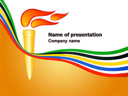 Olympic Cresset Presentation Template For Powerpoint And
