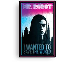 canvas print on mr robot wall art with mr robot retro posters by lunamaster redbubble