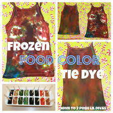 this idea sprang from my desire to do something both diffe and cool for icy fun week i decided to freeze food coloring and use it to tie dye some tank