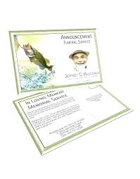 Memorial Announcement Cards Funeral Service Cards Examples Remembrance Memorial Card Template