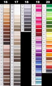 Dmc Color Chart And Numbers Dmc Perle Threads Color Chart Nakpunar