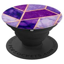 Design Popsocket Cheap Pop Socket Marble Purple Violet Gold Chic Geometric Design Popsockets Grip And Stand For Phones And Tablets