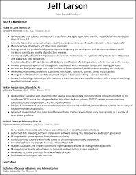 Resume For Software Engineer Free Resume Example And Writing