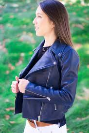 j crew leather jacket review petite style blog petite fashion blog tory