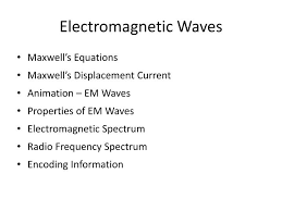 electromagnetic waves maxwell s equations