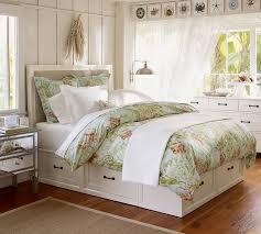 Stratton Storage Platform Bed with Drawers Bed u0026 Dresser Set  Pottery Barn