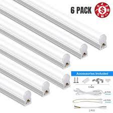 T5 Shop Lights Led T5 Lights 4ft Garage Lighting 20w 2200lm Tube Lamp 6500k