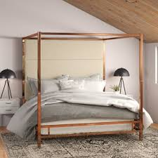 Modern & Contemporary Mirrored Canopy Bed | AllModern