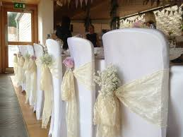 Wedding Chair Sashes Google Search Baby S Breath Tucked In Each