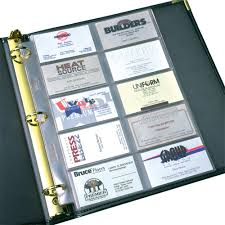 Classic Business Card Pages Samsill World Leaders In Binders