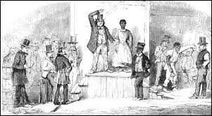 paintings and sketches relating to slavery by eyre crowe  slave auction at richmond virginia by eyre crowe 1856