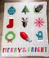 Crochet Christmas Lights Blanket Crocheted Christmas Lights
