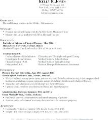 Sample Resume Physical Therapist Best Of Physical Therapist Resumes Physical Therapy Assistant Resume