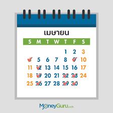 ฤกษ์ออกรถเดือนเมษายน 2564 - MoneyGuru.co.th