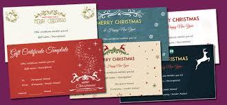 christmas gift card templates christmas gift certificate templates editable and printable designs