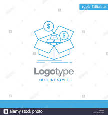 Savings Template Blue Logo Design For Savings Box Budget Money Growth
