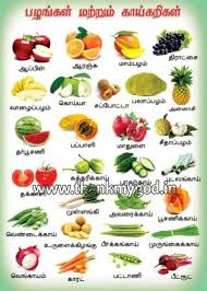 Fruits Vegetables Chart In Tamil Manufacturer In Madurai