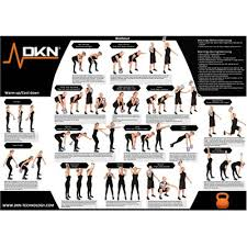 Dkn 2 4 6 And 8kg Vinyl Kettlebell Weight Set