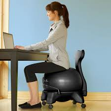 image of cozy yoga ball desk chair