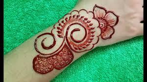 Red Cone Mehandi Designs Back Hand Mehndi Design Easy Simple Red Cone Design