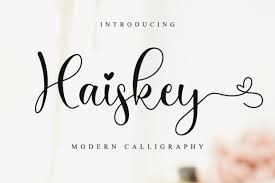 Fonts that support the hebrew language. Haiskey Font By Nissastudio Creative Fabrica In 2020 Script Fonts Beautiful Script Fonts Lettering Tutorial