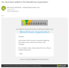 Microsoft Invitation The Elements Of The B2b Collaboration Invitation Email Azure