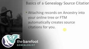 Basics Of A Genealogy Source Citation Ancestry