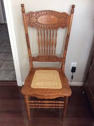 antique oak larkin 1 pressed back chairs circa 1900 cane seat matching set of 8