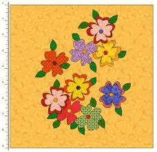 Free applique quilt block pattern for flowers on quilts &  Adamdwight.com
