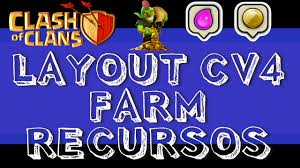 Clan S O Luis War Layout Cv4 Farm Para Clash Of Clans Imperd Vel
