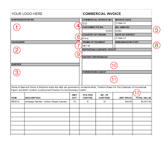 Printable Commercial Invoice Export Documents And Commercial Invoice Template Designing Something