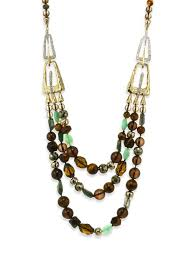 necklaces statement alexis bittar elements abstract buckle beaded semi precious multi stone necklace 26
