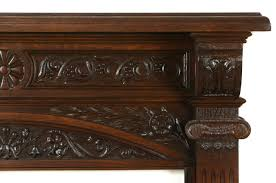 oak architectural salvage victorian antique carved fireplace mantel 11 1 2 deep