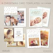 christmas card collage templates digital photoshop christmas card template for photographers set of 4