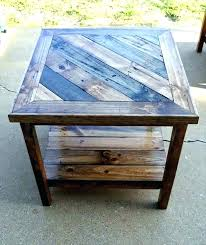 diy round end table wood table top homemade wood furniture pallet square shape end table top