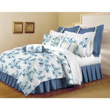 home dynamix classic trends white light blue 5 piece full queen comforter set
